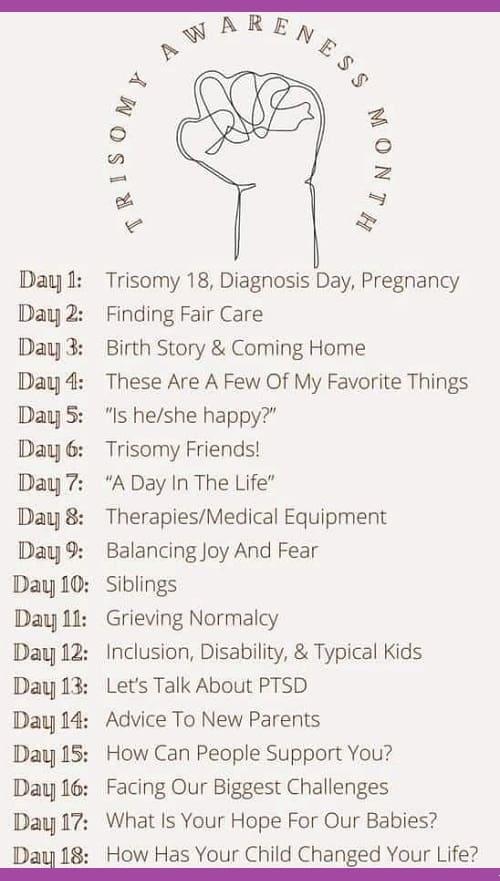 ChromoChallenges Jess Plummer Trisomy Awareness Month 2021