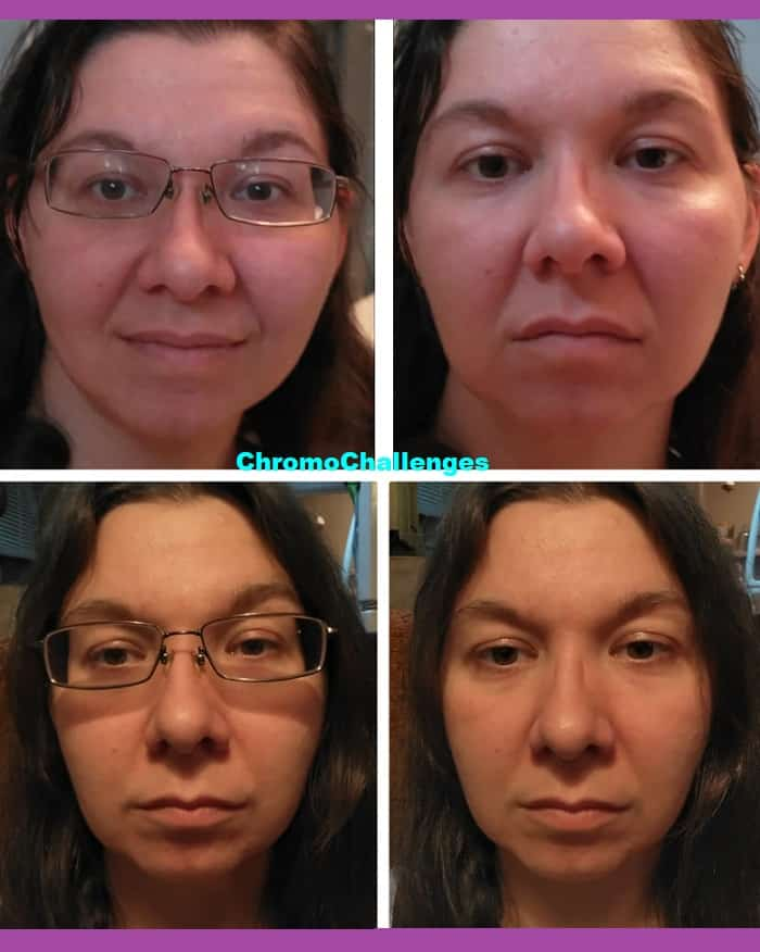 ChromoChallenges Jess Plummer Fulvic Minerals First Bath Inflammation Before and After